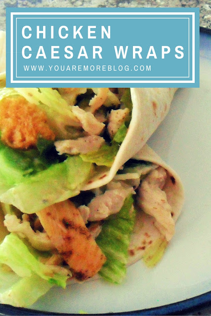 Easy Chicken Caesar Wraps