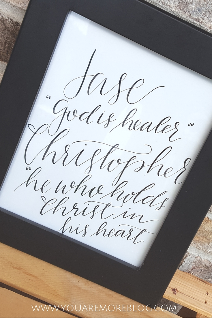 Shop Spotlight: PS Lettering Shop Specializing in calligraphy and watercolor prints.
