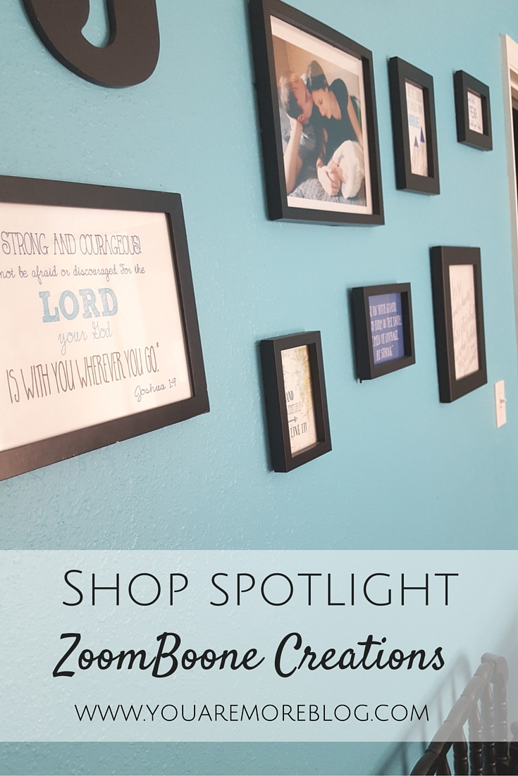 Zoomboone Creations Shop Spotlight specializing in modern nursery prints and invitations.