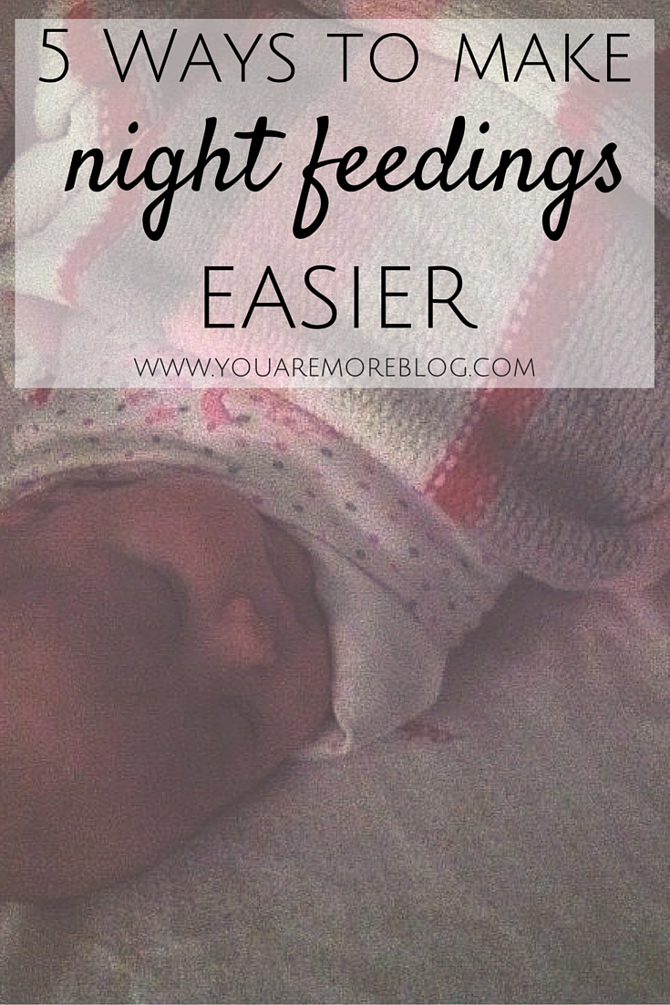 These five things can make night feedings with a newborn easier.