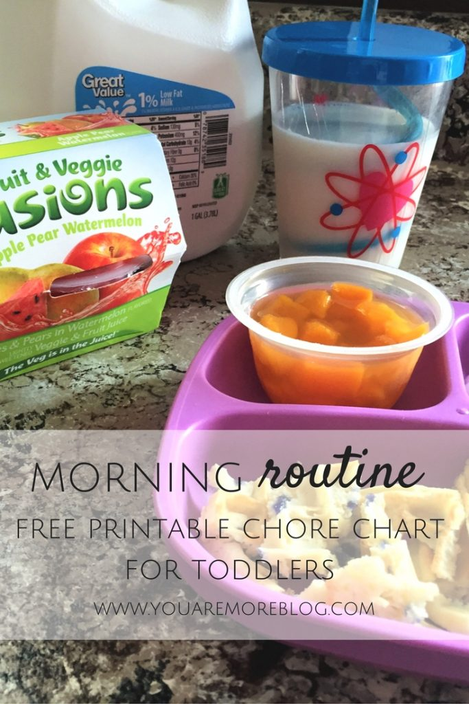 Morning Routine & Free Printable Chore Chart