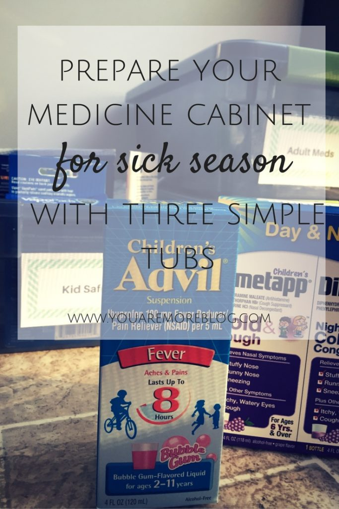 Prepare Your Medicine Cabinet for Sick Season with Three Simple Tubs