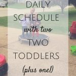 Daily Schedule with Two Toddlers (PLUS ONE!)