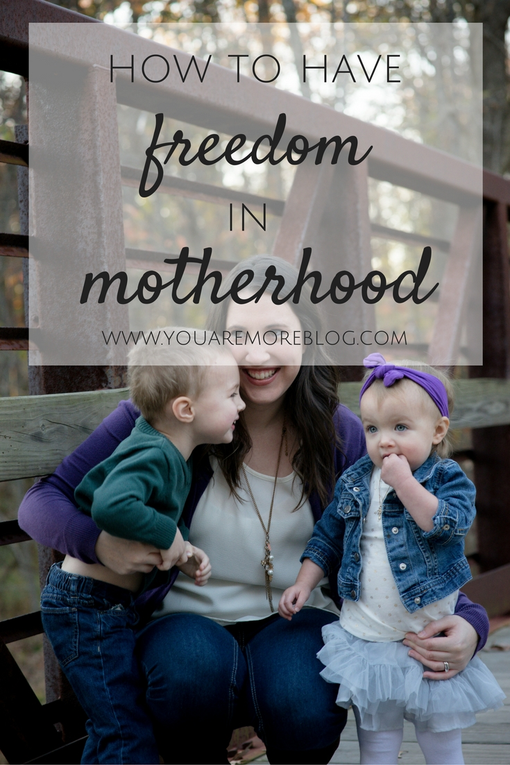 How to get out from under all the pressure and find freedom in motherhood.