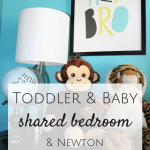 Toddler & Baby Shared Bedroom {with Newton}