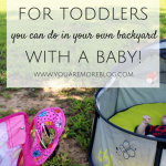 4 Fall Activities for Toddlers You Can do With a Baby! {Nido Mini}