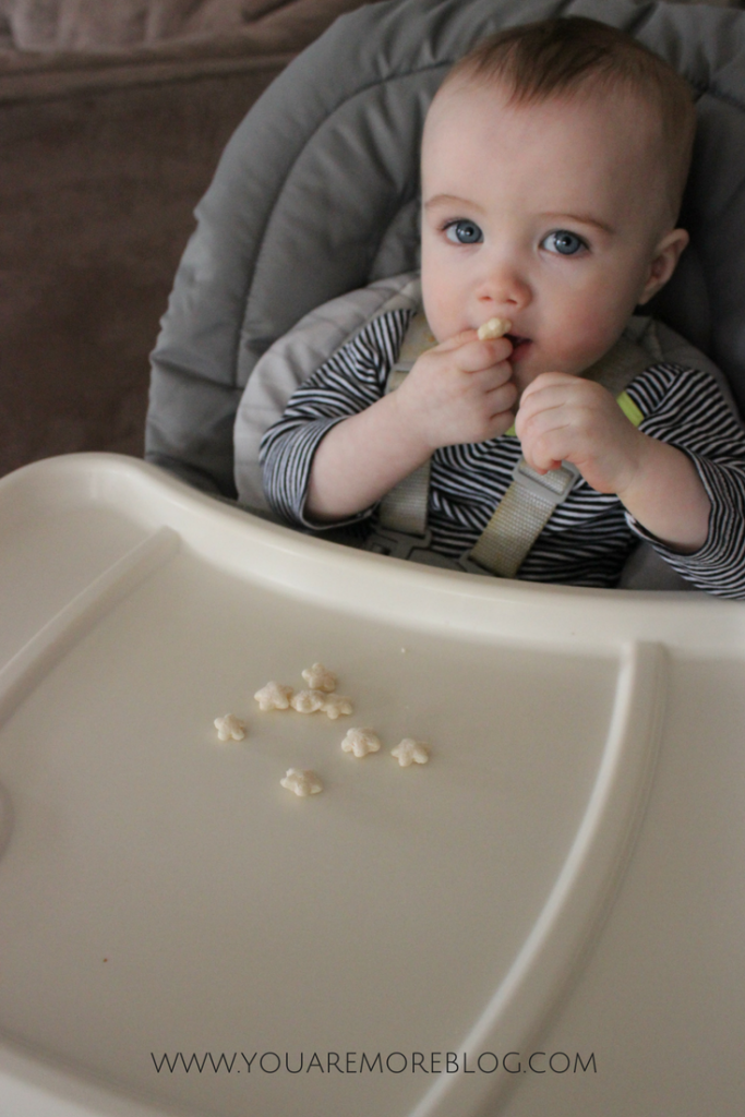 gerber also has lil crunchies and yogurt melts which are perfect for the next step up they still quickly dissolve and help your child practice picking up